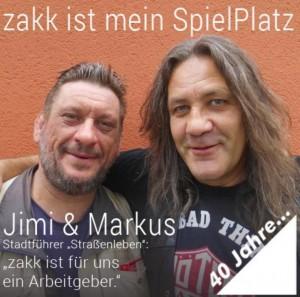 Markus (links) und Jimi (rechts) waren lange als Stadtführerkollegen für Straßenleben unterwegs.